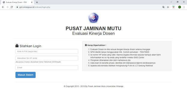 Evaluasi Kinerja Dosen Tahun 2018